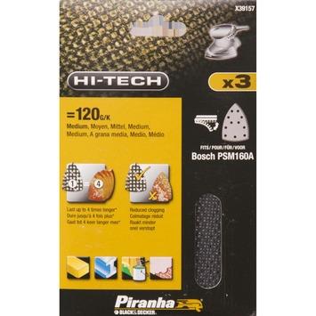 Piranha schuurgaas voor Bosch PSM80A K120 X39157-XJ