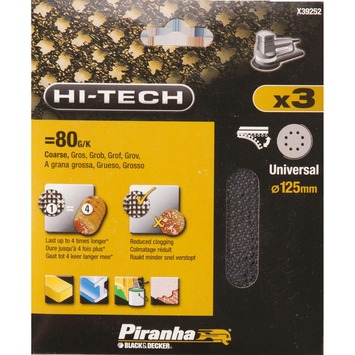 Piranha schuurgaas rond 125mm K80 X39252-XJ