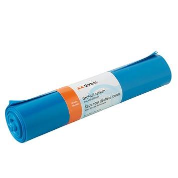 Martens grofvuilzak blauw 10 stuks