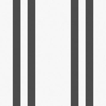 Vliesbehang Streep wit-zwart 32-620