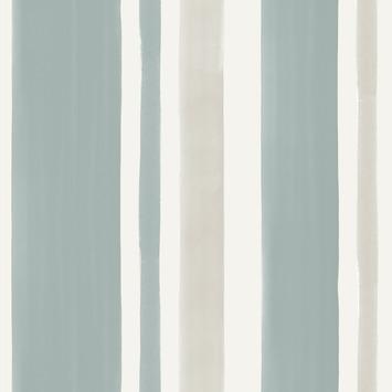 Vliesbehang Strepen blauw 2254-41