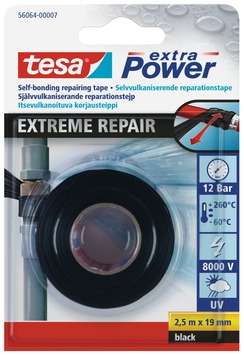 Tesa Xtra Power extreme repair tape zwart 19 mm 2,5 meter