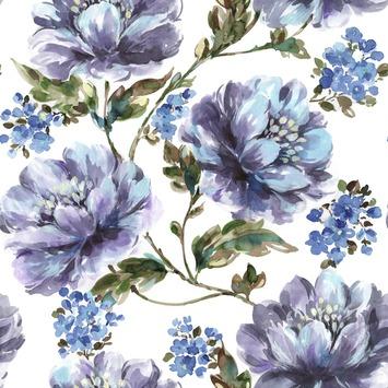 Vliesbehang Stefanie blauw 2245-40