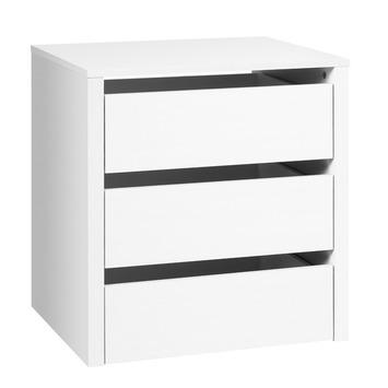 Ladeblok voor zweefdeurkast spaanplaat wit 59,4x53x48 cm