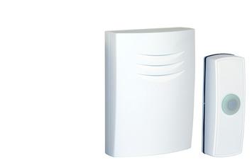 Byron deurbel en drukknop draadloos wit B304