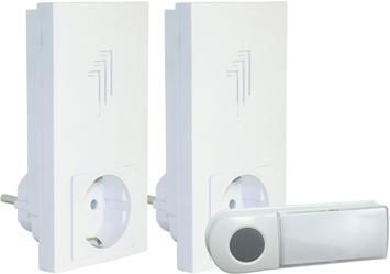 Smartwares draadloze deurbelset plug-in DB433E