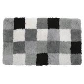 GAMMA badmat Blok zwart met grijs 60x90 cm