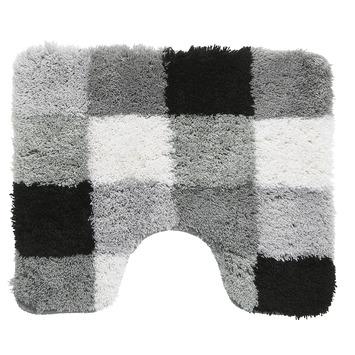 GAMMA WC mat Blok Zwart met Grijs 60x50 cm