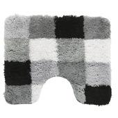 GAMMA toiletmat Blok zwart met grijs 60x50 cm