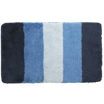 GAMMA Badmat Streep Blauw 90x60 cm