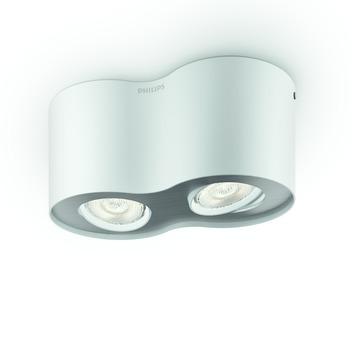 Philips Phase plafondspot met 2 x geïntegreerde LED 4,5W =  30W wit