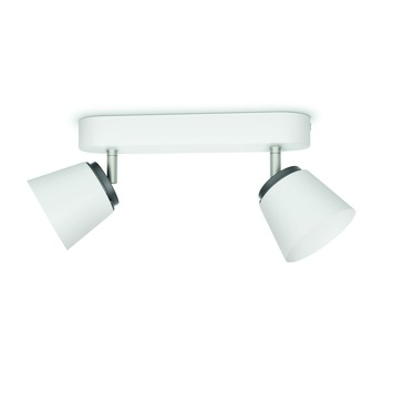 Philips duobalk Dender LED 2X4W wit