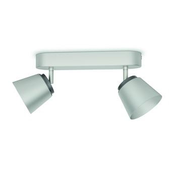 Philips duobalk Dender LED 2X4W nikkel