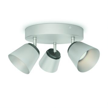 Philips triospot Dender LED 3X4W nikkel