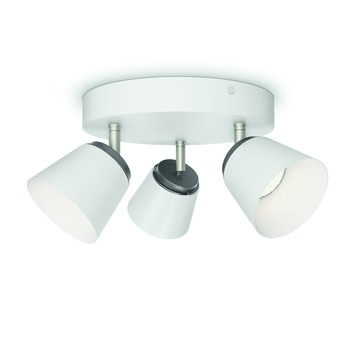 Philips triospot Dender LED 3X4W wit