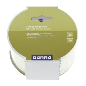 GAMMA verpakkingstape transparant 50 mm 66 meter