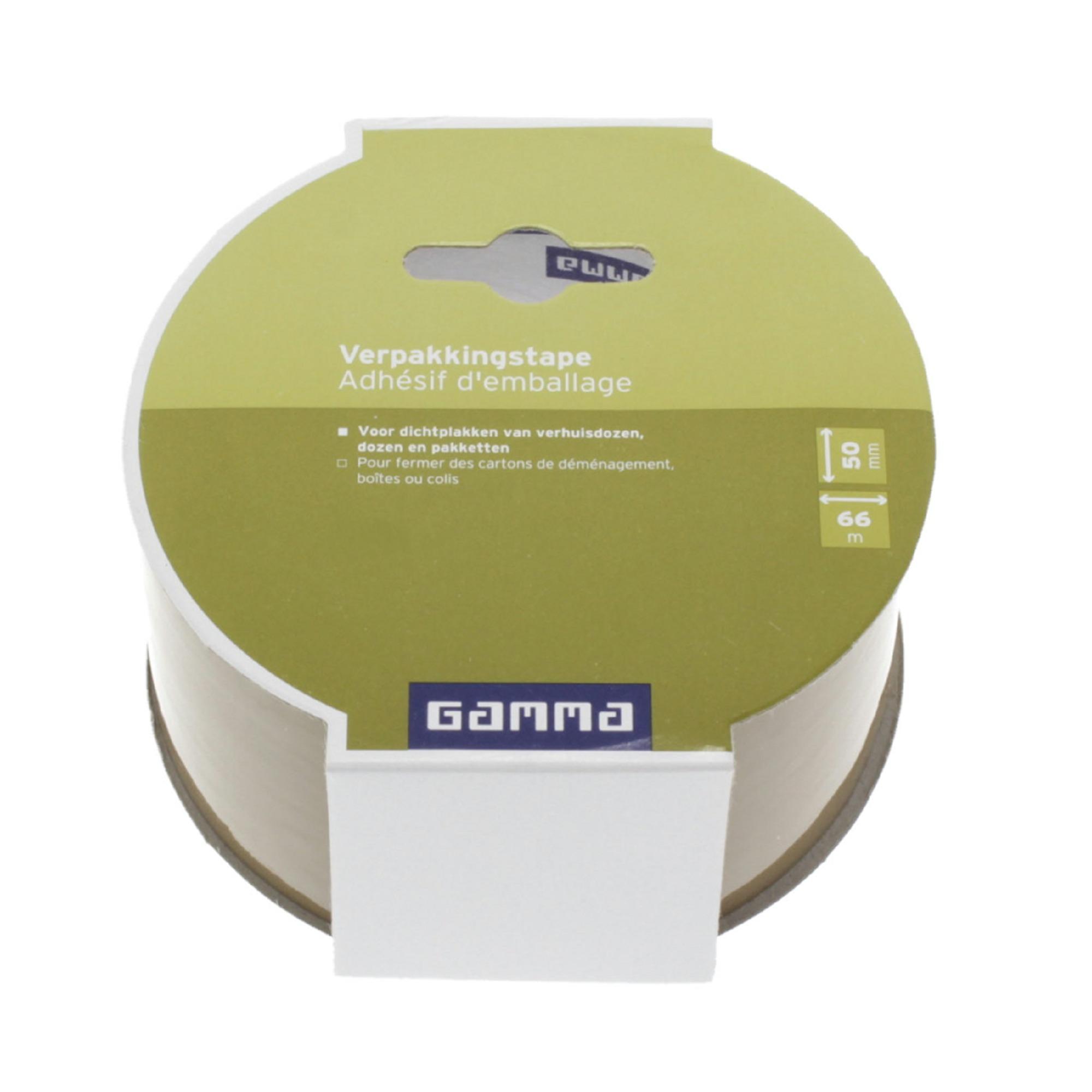 GAMMA verpakkingstape bruin 50 mm 66 meter