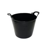 Flexibele kuip 25 liter zwart