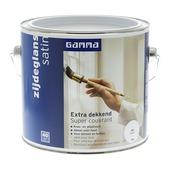 GAMMA Extra Dekkend lak wit zijdeglans 2,5 liter