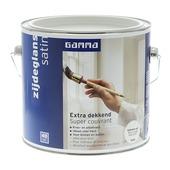 GAMMA Extra Dekkend lak RAL 9010 gebroken wit zijdeglans 2,5 liter
