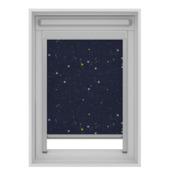 GAMMA dakraam rolgordijn VELUX skylight new generation verduisterend 7006 donkerblauw ster 134x140 cm