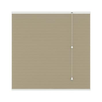 GAMMA plissé dupli verduisterend 25 mm 6021 zand 160x180 mm