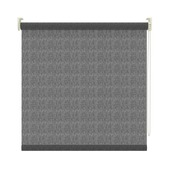 GAMMA rolgordijn dessin lichtdoorlatend 3577 zwart transparant 150x190 cm
