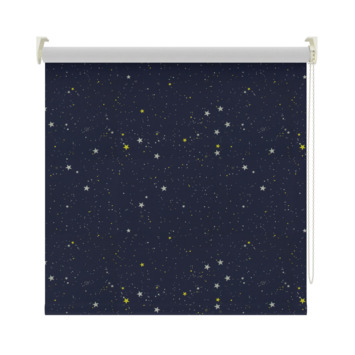 GAMMA | GAMMA rolgordijn dessin verduisterend 1449 donkerblauw ster ...