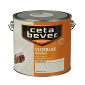 CetaBever vloerlak dekkend warm wit zijdeglans 2,5 liter