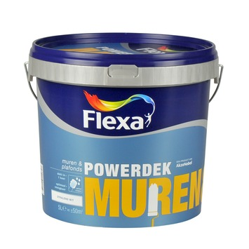 Flexa Powerdek latex stralend wit mat 5 liter