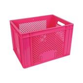 Fietskrat roze 40x30x26 cm
