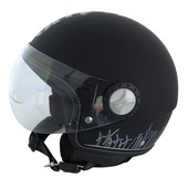 Motorhelm jet zwart city hunter M