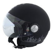 Motorhelm jet zwart city hunter L