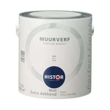 Histor Perfect Finish muurverf wit mat 2,5 liter