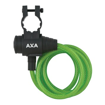 Spiraalslot AXA zipp cable green 120*8