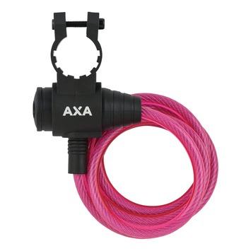AXA spiraalslot zipp cable pink 120*8