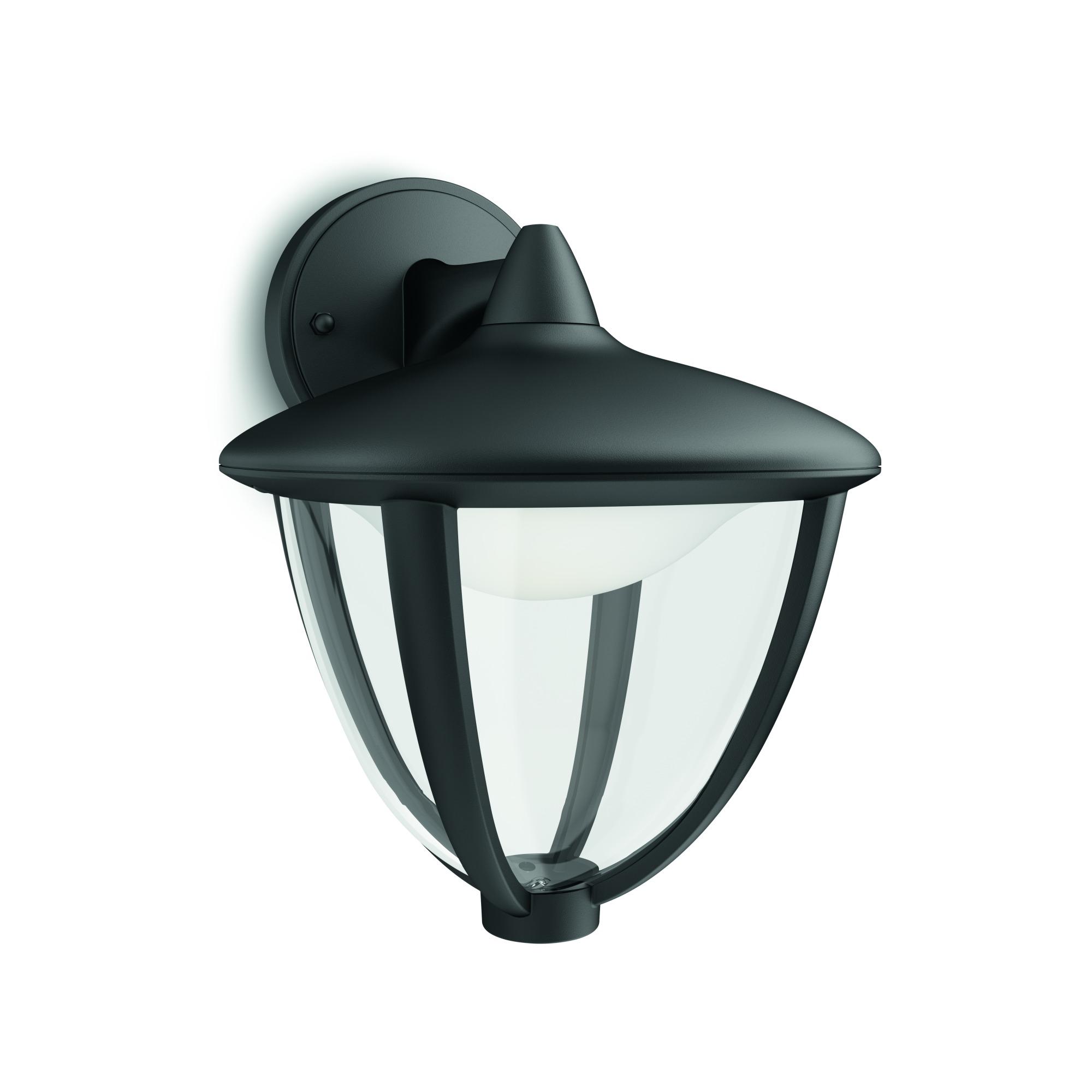 Robin wall lantern black 1x4.5W 230V