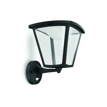 Philips Buitenlamp Cottage met bewegingssensor zwart LED 4W