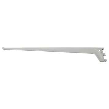 Handson drager enkel railsysteem mat zilver 25 cm
