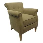 Victoria fauteuil hout/stof grijs 95x86x87 cm