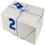 Postverzenddoos 2 karton wit 30,5x20,5x11 cm
