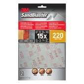 3M Sandblaster Ultraflex schuursheets K220 fijn 2 stuks