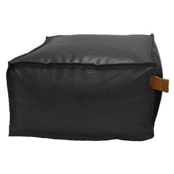 Poef Kunstleer zwart 28x48x48 cm