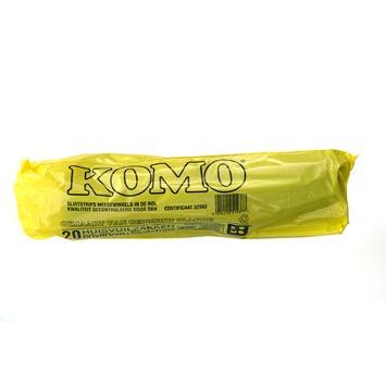 Komo vuilniszakken met sluitstrips 60x80 cm 20 stuks
