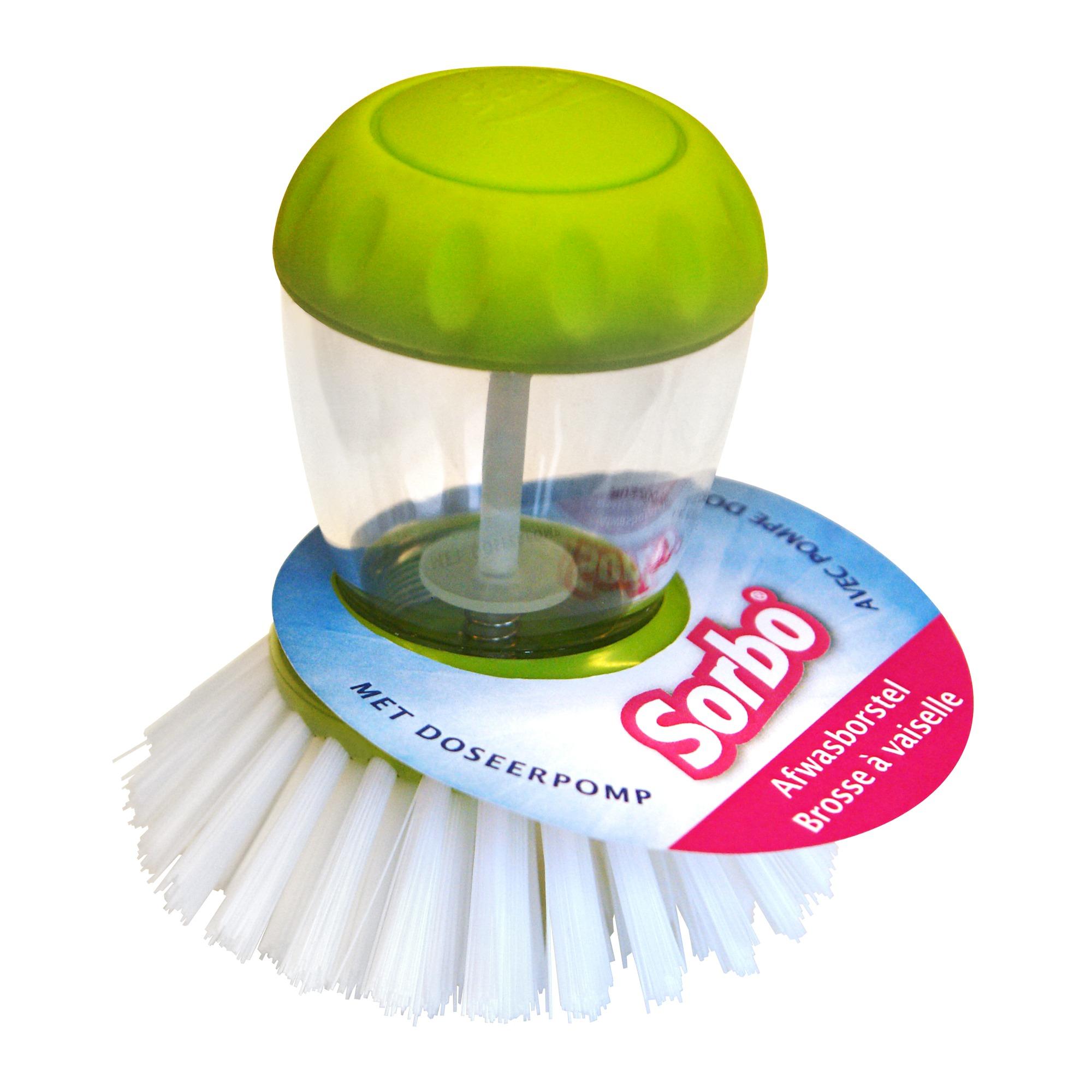 Sorbo quick & easy afwasborstel hout rond fiber vulling