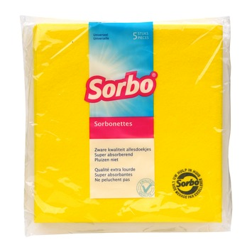 Sorbonettes geel 40x38 cm 5 stuks