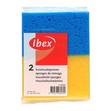 Ibex huishoudspons 2 stuks