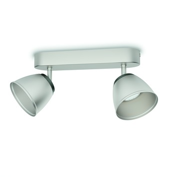Philips duobalk County LED 2X4W nikkel