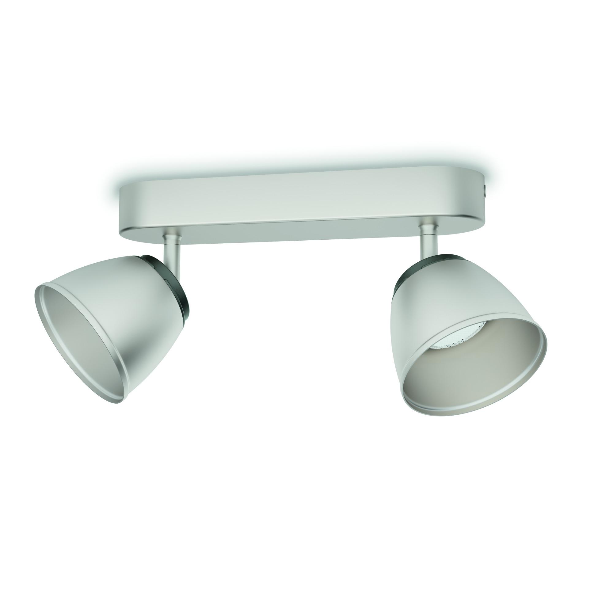 Philips duobalk County LED 2X4W nikkel