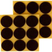 Tesa vilt diameter 26 mm rond bruin 2 stuks